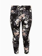 Studio Ponte Slim Fix Floral Pull-On Pixie Pant  , FLORALS-BLACK, hi-res