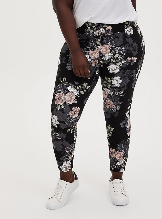 Studio Ponte Slim Fix Floral Pull-On Pixie Pant  , , hi-res
