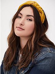 Mustard Yellow Braided Headband, , hi-res