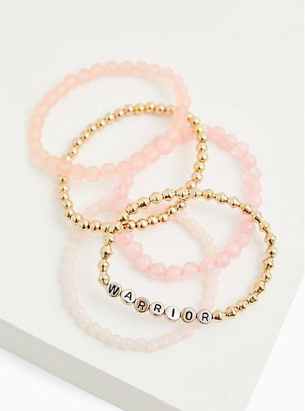 Breast Cancer Awareness - Warrior Stretch Bracelet Set of 5, MULTI, alternate