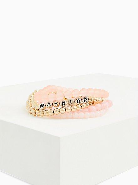 Breast Cancer Awareness - Warrior Stretch Bracelet Set of 5, MULTI, hi-res