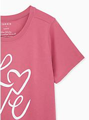 Love Pink Slim Fit Crew Tee, FAWN, alternate