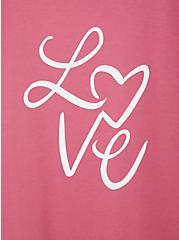 Love Slim Fit Crew Tee - Rose Pink, FAWN, alternate