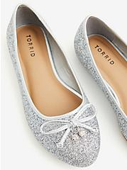 Grey Allover Glitter Ballet Flat (WW), SILVER, alternate