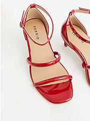 Plus Size Red Faux Patent Leather Setback Heel (WW), RED, alternate
