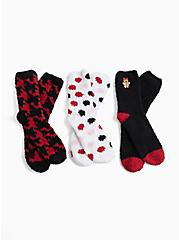 Betsey Johnson Black & Red Holiday Socks Pack - Pack of 3, , hi-res