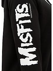 Misfits Black Fleece Hoodie, DEEP BLACK, alternate
