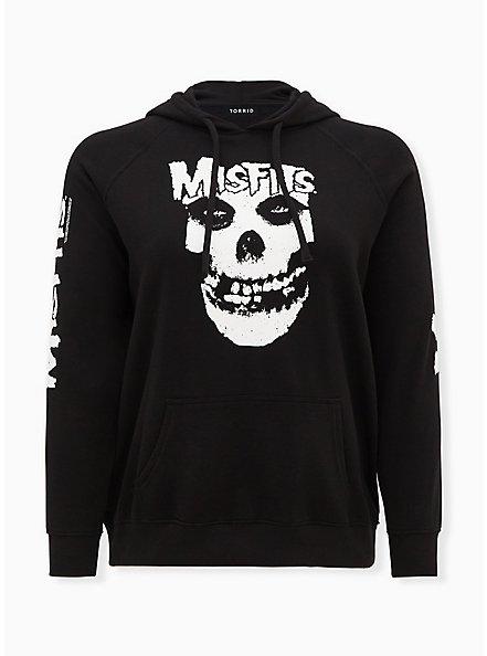 Misfits Black Fleece Hoodie, DEEP BLACK, hi-res