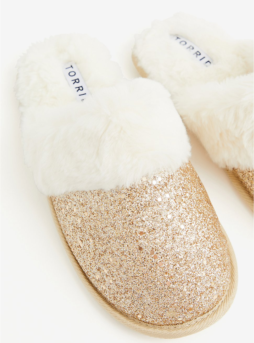 Gold Yellow Glitter Slipper (WW), GOLD, hi-res