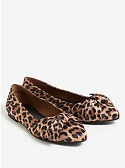 Leopard Pointed Toe Bow Flat (WW), ANIMAL, alternate