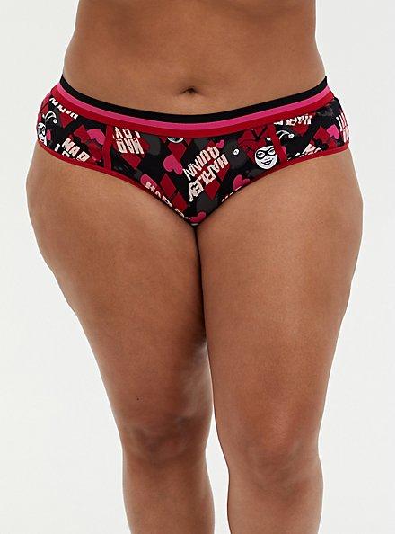 DC Comics Harley Quinn Multi Cotton Hipster Panty , MULTI, hi-res