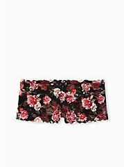Black Floral Lace Cheeky Panty, MILLENIAL FLORAL, hi-res