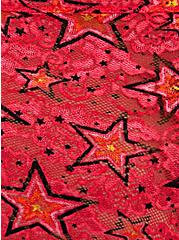 Raspberry Pink Radiant Star Lace Cheeky Panty, RADIANT STARS, alternate