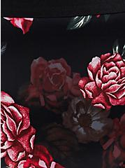 Black Floral Satin & Lace Hipster Panty, MILLENIAL FLORAL, alternate