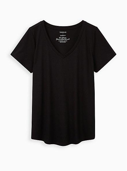 Plus Size Girlfriend Tee - Signature Jersey Black, DEEP BLACK, hi-res