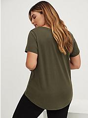 Signature Jersey Olive Green V-Neck Tee, DEEP DEPTHS, alternate