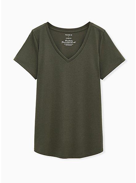 Girlfriend Tee - Signature Jersey Olive Green, DEEP DEPTHS, hi-res