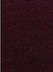 Girlfriend Tee - Signature Jersey Burgundy Purple, WINETASTING, alternate