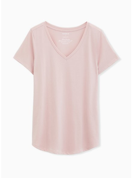 Girlfriend Tee - Signature Jersey Mauve Pink, PALE MAUVE, hi-res