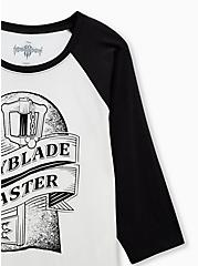 Disney Kingdom Hearts Key Master Ivory Raglan Top, CLOUD DANCER/ MELIA FLORAL EMBD, alternate