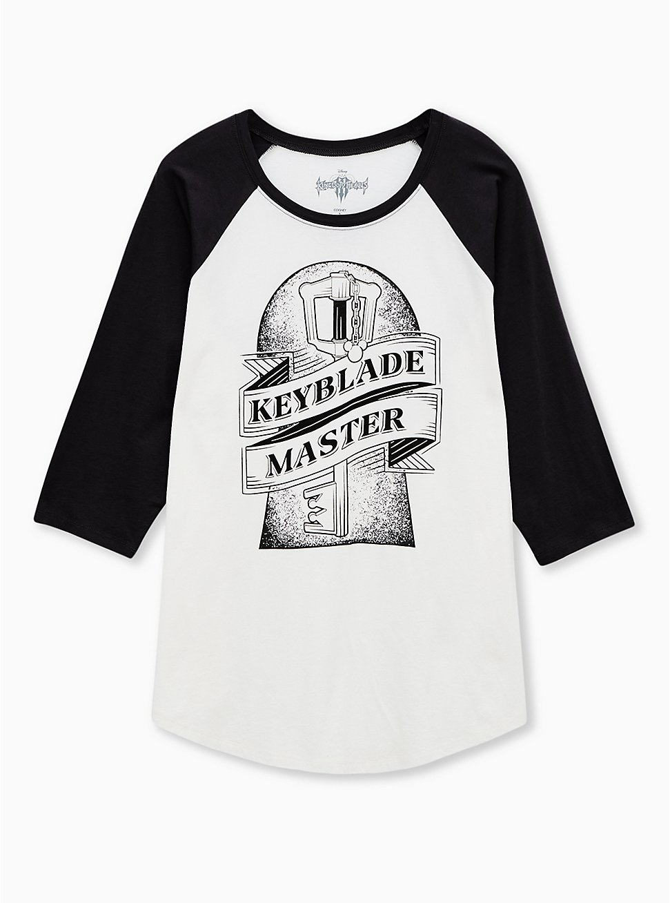 Disney Kingdom Hearts Key Master Ivory Raglan Top, CLOUD DANCER/ MELIA FLORAL EMBD, hi-res