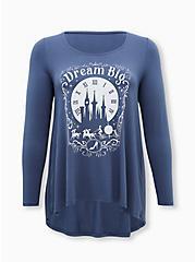 Disney Cinderella Dream Big Super Soft Vintage Indigo Tunic, VINTAGE INDIGO, hi-res