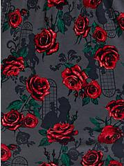 Plus Size Disney Beauty and the Beast Rose Dark Grey Babydoll Top , MULTI FORAL, alternate