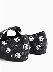 Disney The Nightmare Before Christmas Jack Skellington Pointed Toe Mary Jane Flat (WW), BLACK, alternate
