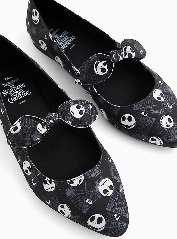 Disney The Nightmare Before Christmas Jack Skellington Pointed Toe Mary Jane Flat (WW), , hi-res