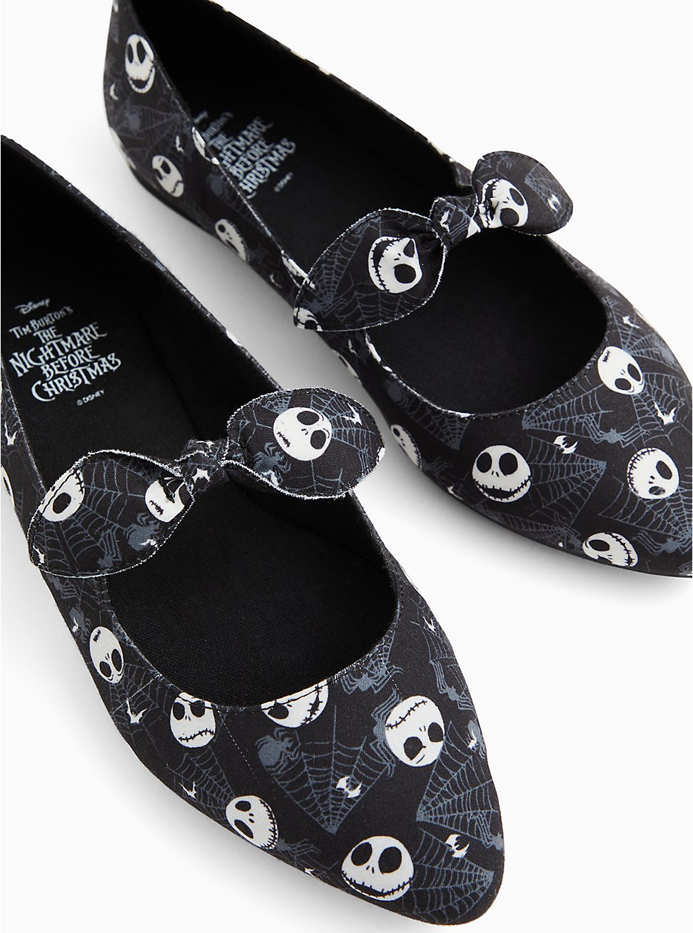 Disney The Nightmare Before Christmas Jack Skellington Pointed Toe Mary Jane Flat (WW), BLACK, hi-res