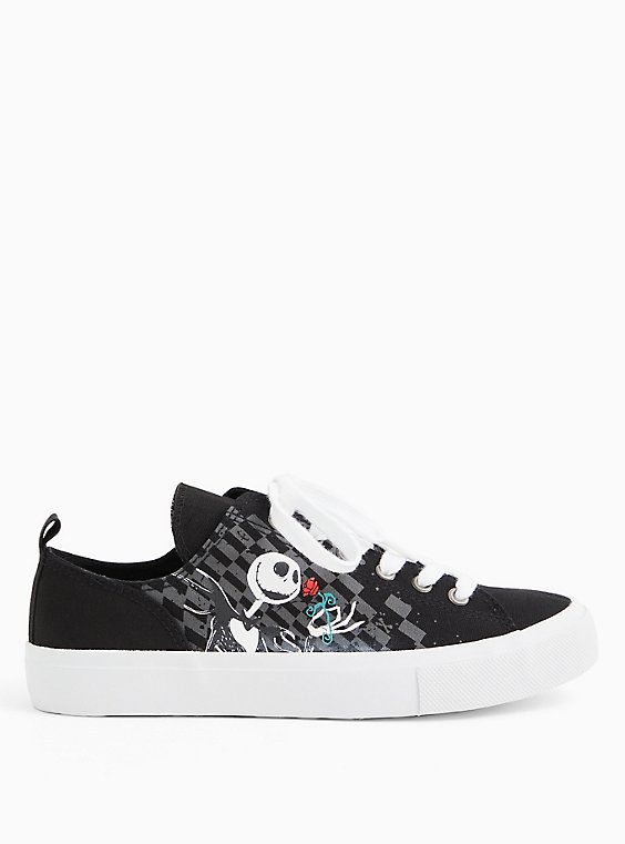 Disney The Nightmare Before Christmas Jack and Sally Canvas Sneaker (WW), BLACK, hi-res