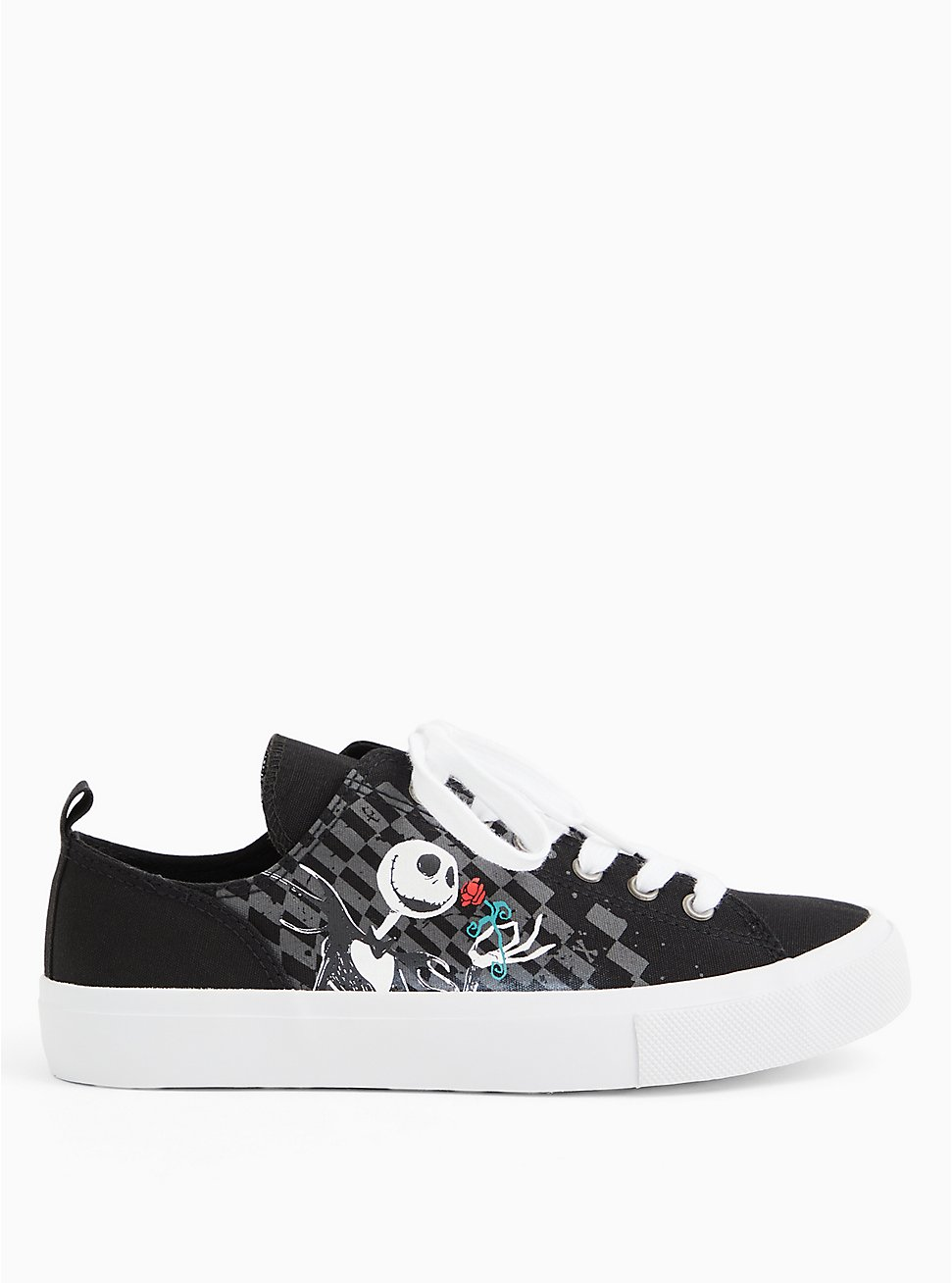 Plus Size Disney The Nightmare Before Christmas Jack and Sally Canvas Sneaker (WW), BLACK, hi-res