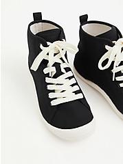 Riley - Black Canvas High-Top Sneaker (WW), BLACK, alternate