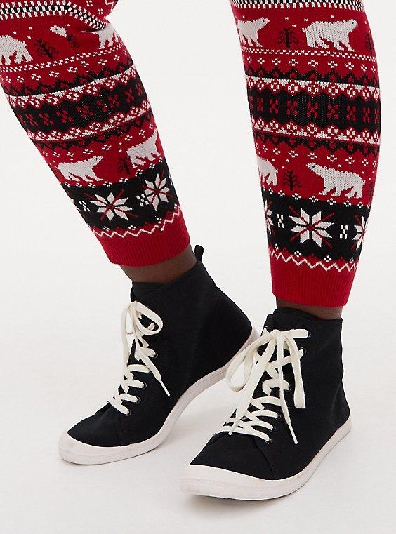 Riley - Black Canvas High-Top Sneaker (WW), BLACK, hi-res