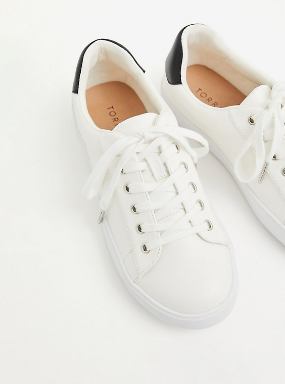 White Low-Top Lace-Up Sneaker (WW), , hi-res