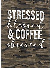 Coffee Obsessed Camo Classic Fit Graphic Tee, , alternate