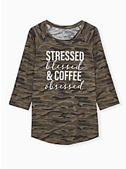 Coffee Obsessed Camo Classic Fit Graphic Tee, , hi-res