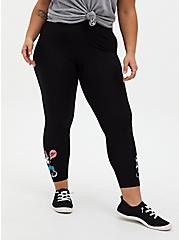 Disney Minnie Mouse Black Crop Legging, BLACK, alternate