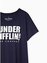 The Office Dunder Mifflin Slim Fit Tee - Navy, PEACOAT, alternate