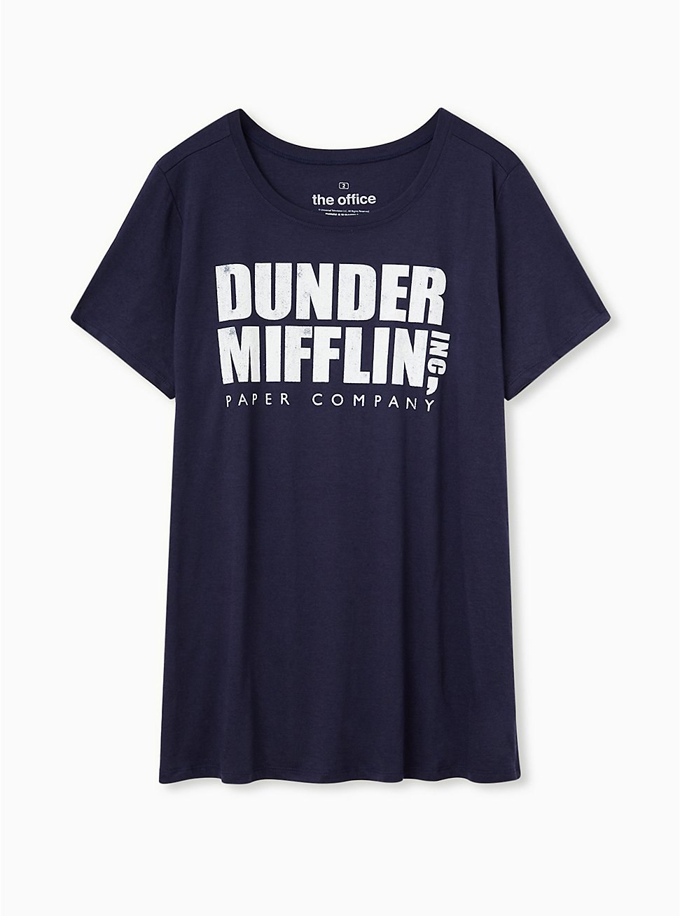 The Office Dunder Mifflin Slim Fit Tee - Navy, PEACOAT, hi-res