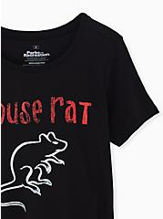 Parks and Recreation Black Slim Fit Mouse Rat Tee, DEEP BLACK, alternate