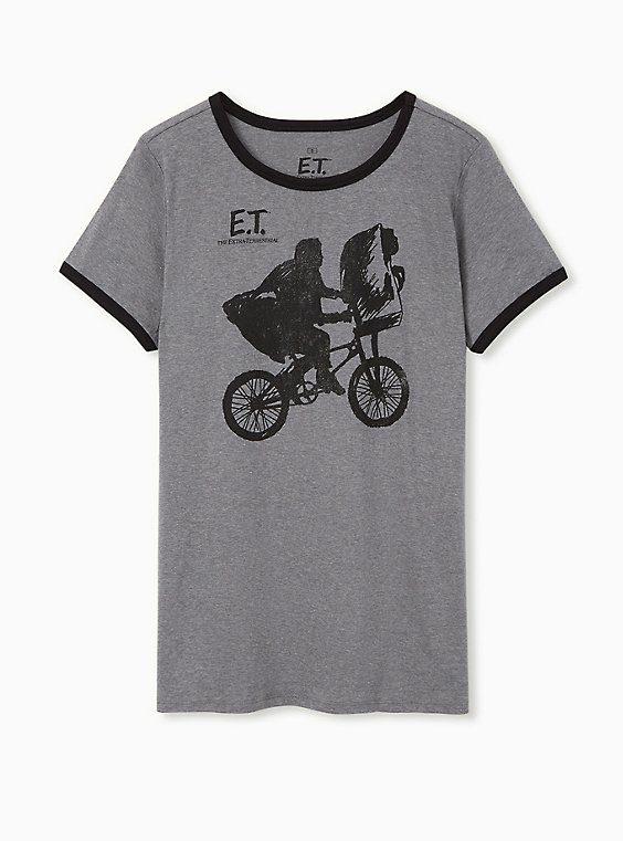 ET Classic Fit Ringer Tee - Heather Grey, , hi-res