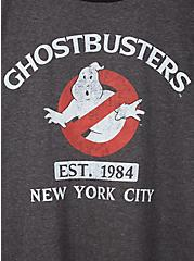 Ghostbusters Classic Fit Ringer Top - Charcoal Grey , CHARCOAL, alternate