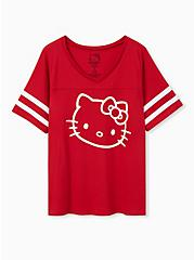 Hello Kitty Red Football Top, JESTER RED, hi-res