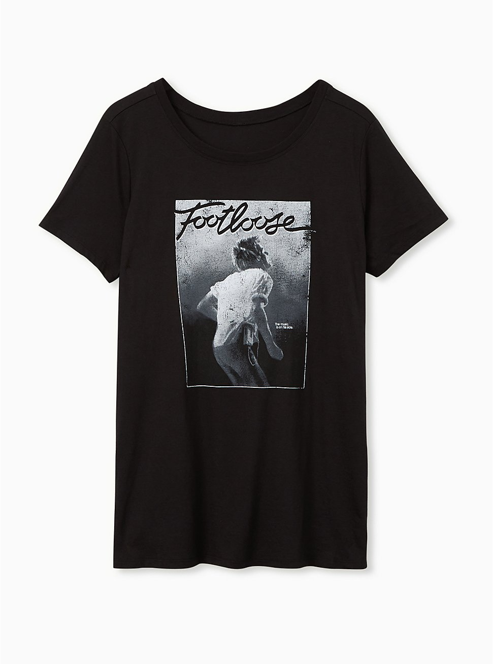 Plus Size Footloose Classic Fit Crew Tee - Black, DEEP BLACK, hi-res