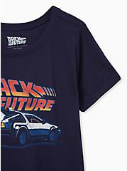 Back To The Future Slim Fit Crew Tee - Navy, PEACOAT, alternate