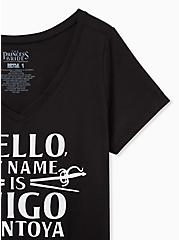 Princess Bride Inigo Montoya Slim Fit Graphic Tee - Black, DEEP BLACK, alternate