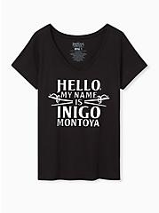 Princess Bride Inigo Montoya Slim Fit Graphic Tee - Black, DEEP BLACK, hi-res