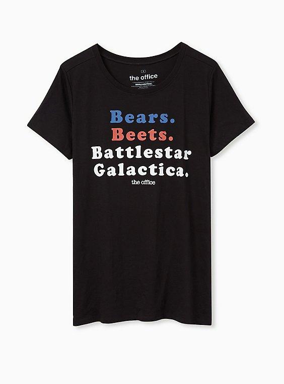 Plus Size The Office Battlestar Galactica Slim Fit Graphic Tee - Black, , hi-res
