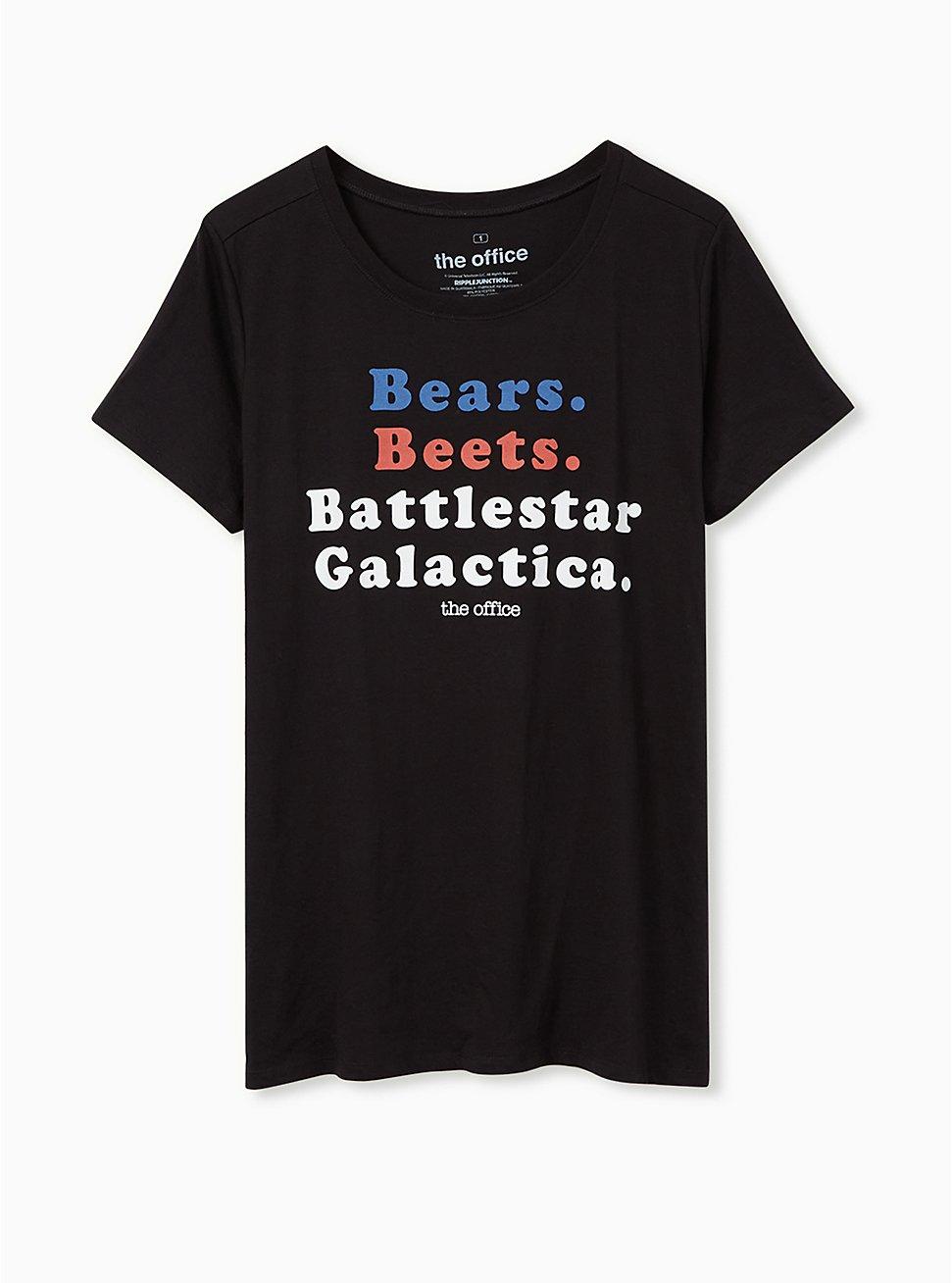 Plus Size The Office Battlestar Galactica Slim Fit Graphic Tee - Black, DEEP BLACK, hi-res